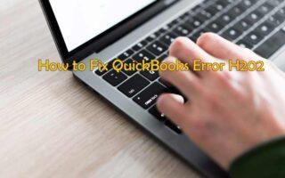How to solve quick book error H202